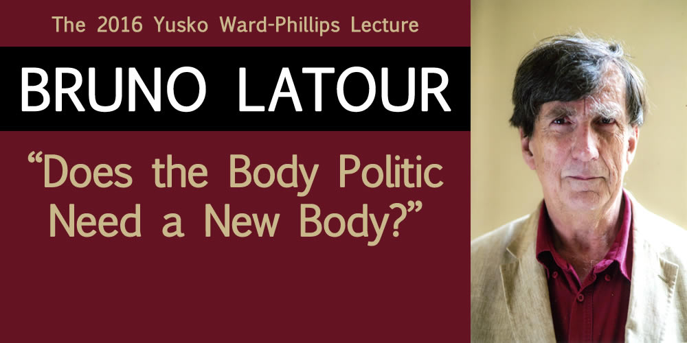 English Department Welcomes Bruno Latour