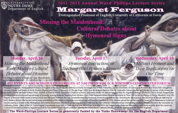 2011-12 Ward-Phillips Lecture Series: Margaret Ferguson